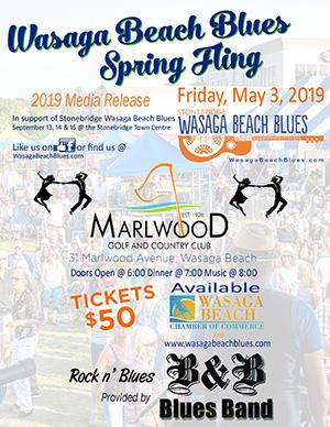 Wasaga Beach Blues Spring Fling Poster